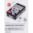 Domino Juego de Mesa Color Casino Caja Metalica Cayro