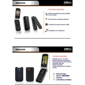 Teléfono móvil con tapa y sos MM820BB
